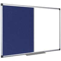5 Star Combination Whiteboard, Felt & Drywipe, W900xH600mm