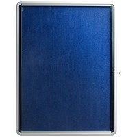 5 Star Noticeboard, Glazed Aluminium, W900xH600mm, Blue
