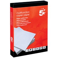 5 Star A5 Multifunctional Paper, White, 80gsm, Ream (500 Sheets)