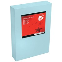 5 Star A4 Multifunctional Tinted Card, Medium Blue, 160gsm, 250 Sheets