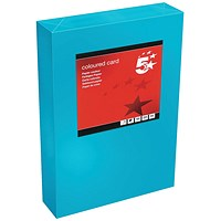 5 Star A4 Multifunctional Tinted Card, Deep Blue, 160gsm, 250 Sheets