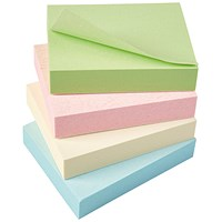 5 Star Eco Recycled Sticky Notes, 38x51mm, Pastel, Pack of 12