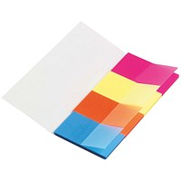 5 Star Page Markers, Four Neon Colours, Pack of 5