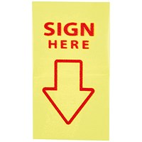 "5 Star ""Sign Here"" Index Flags, Yellow, Pack of 5"