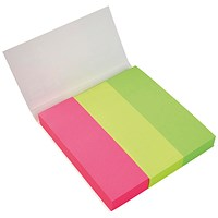 5 Star Paper Page Markers, 100 Sheets per Pad, 25x76mm