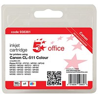 5 Star Compatible - Alternative to Canon CL-511 Colour Inkjet Cartridge