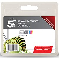 5 Star Compatible - Alternative to Canon CL-546 XL Colour Inkjet Cartridge