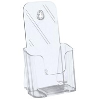 5 Star Literature Holder, Angled, 1/3 x A4, Clear
