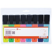5 Star Highlighters, Assorted Colours, Pack of 8