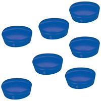 5 Star Plastic Magnets, 20mm, Blue, Pack of 10