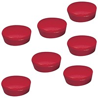 5 Star Plastic Magnets, 20mm, Red, Pack of 10