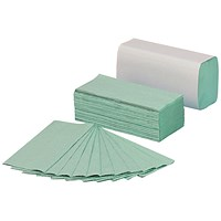 5 Star Z-Fold Hand Towels, Green, 12 Sleeves of 250 Towels