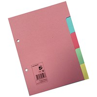 5 Star Subject Dividers, 5-Part, A5, Assorted