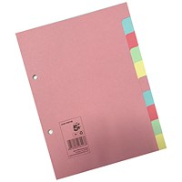 5 Star Subject Dividers, 10-Part, A5, Assorted