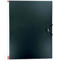 5 Star Hardback Display Book, 24 Pockets, A4, Black