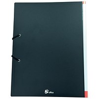 5 Star Hardback Display Book, 36 Pockets, A4, Black