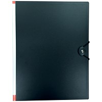 5 Star Hardback Display Book, 100 Pockets, A4, Black