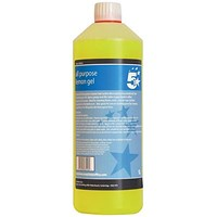 5 Star All Purpose Lemon Gel - 1 Litre