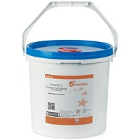 5 Star Disinfectant Wipes, Anti-bacterial, PHMB-free, BPR Low-residue, 20x23cm, Bucket of 500 Sheets