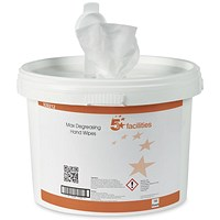 5 Star Hand & Surface Wipes, Anti-bacterial, Tub of 150 Sheets
