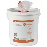 5 Star Cleansing Wet Skin Wipes, Fragranced, Bucket of 500 Wipes