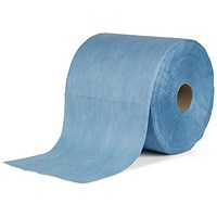 5 Star Cloths Multipurpose Low Lint Solvent-resistant 110gsm 30x36cm Blue [Roll 500]