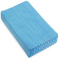 5 Star Cloths, Anti-microbial, Wavy Blue, Pack of 50
