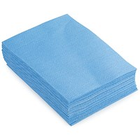 5 Star Heavy-duty Cloths, Anti-microbial, Blue, Pack of 25