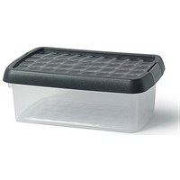 5 Star Clip Box, 3.8 Litre, Clear