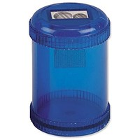 5 Star Pencil Sharpener, Plastic Canister, Pencil Diameter 8/11mm, 2 Hole, Pack of 10