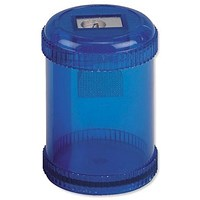 5 Star Pencil Sharpener, Plastic Canister, Pencil Diameter 8mm, 1 Hole, Pack of 10