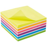 5 Star Sticky Notes Cube, 76x76mm, Bright Rainbow, 400 Notes per Cube