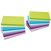 5 Star Sticky Notes, 76x127mm, Neon & Pastel Mix, Pack of 12 x 100 Notes