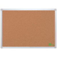 5 Star Eco Cork Board with Wall Fixing Kit / Aluminium Frame / W1200xH900mm