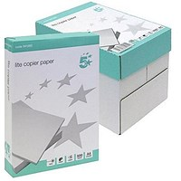 5 Star A4 Multifunctional Lite Paper, White, 75gsm, Box (5 x 500 Sheets)