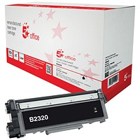5 Star High Yield Black Remanufactured Laser Toner Cartridge (Brother TN2320 Alternative)