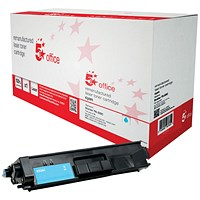 5 Star Remanufactured High Yield Cyan Laser Toner Cartridge (Brother TN326C Alternative)