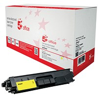 5 Star Remanufactured High Yield Yellow Laser Toner Cartridge (Brother TN326Y Alternative)