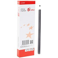 5 Star China Graph Pencil, 4mm, Non-toxic, Black, Pack 12