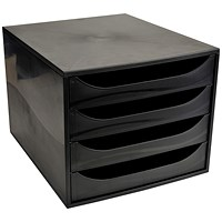 Recycled 4 Drawer Set, 234x284x355mm, Black