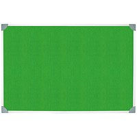 5 Star Felt Noticeboard, Aluminium Trim, W900xH600mm, Green