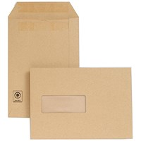 New Guardian Heavyweight C5 Pocket Envelopes with Window, Manilla, Press Seal, 130gsm, Pack of 250