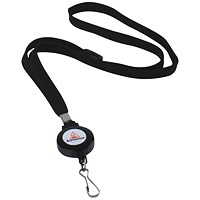 Announce Textile Lanyard with Badge Reel (Pack of 10) AA03627