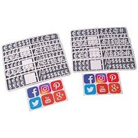 Announce Peg Characters Social Media and Currency Set (Pack of 216)
