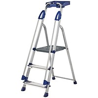 Werner Blue Seal 3 Tread Professional Aluminium Step Ladder 7050318