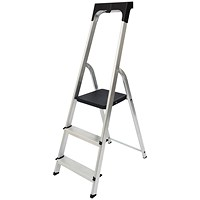 Werner Promaster 3 Tread Step Ladder with High Safety Hand Rail 7410318