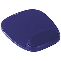 Kensington Foam Mouse Pad with Cushioned Wrist Support Blue