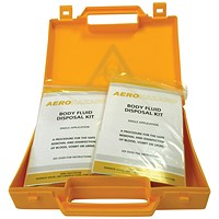 Body Fluid Spillage Kit for Safe Disposal Yellow Case