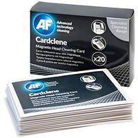 AF Cardclene ATM/POS Magnetic Head Cleaning Cards (Pack of 20)