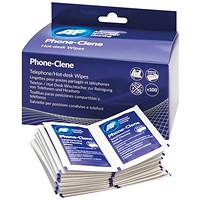 AF Phone-Clene Telephone Wipe Sachets (Pack of 100)